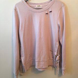 Sweaters - Garage ripped design sweater